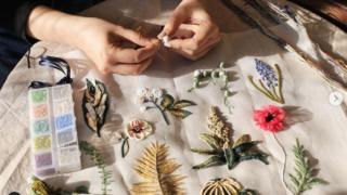 リュビネル刺繍 CLASS101 オートクチュール刺繍